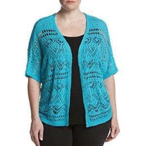 Open weave Turquoise Cardigan